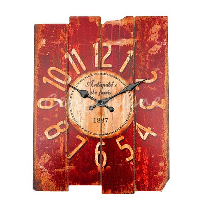 Good Promotion Vintage Designed Rustic Wall Clock Shabby Chic Home Office Coffeeshop Bar Xmas Decoration Unique Gift Craft