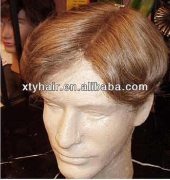 Human Hair Man Hair Pieces Men's Toupee Human