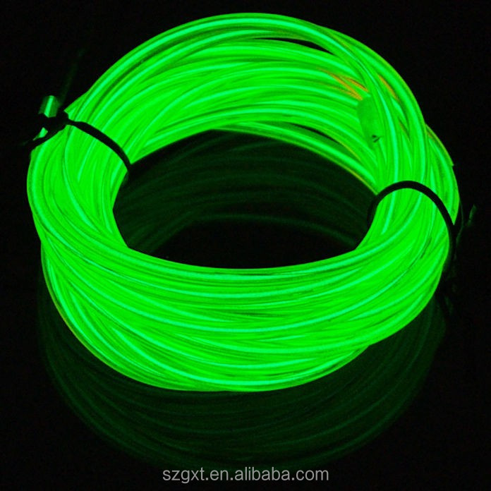 15meters 2.3mm, lemon el glowing wire with DC12V inverter and power cord