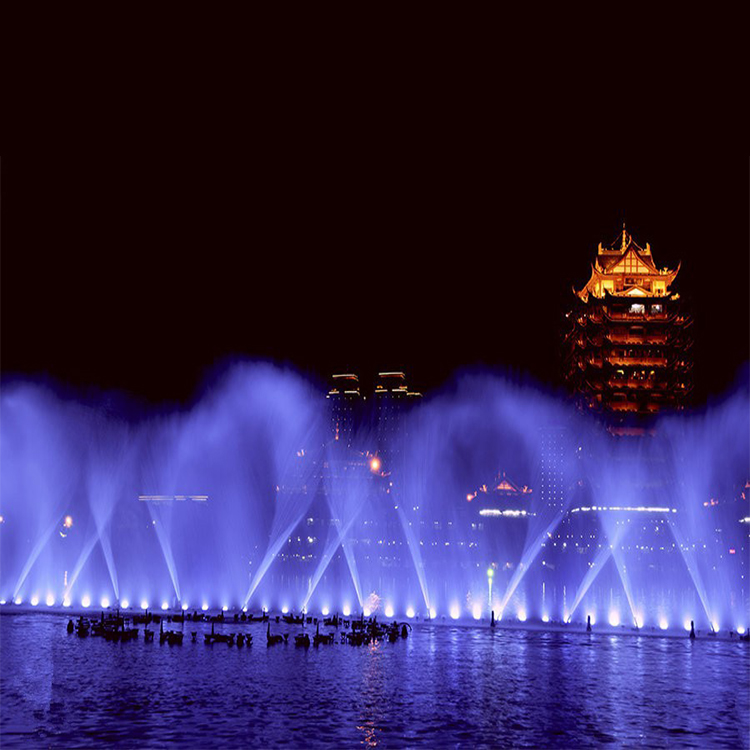 Chinese outdoor led music dancing laser movie water fountain on lakes