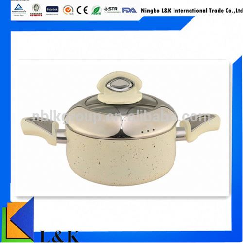 Hot selling enamelware alumimun cookware 2017 new design, soup pot