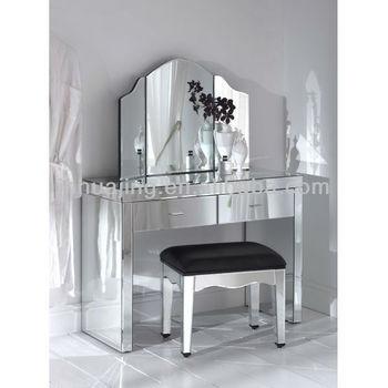 Tutti A Specchio Moderne Consolle Con 2 Cassetti/specchio Toletta ...
