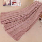 Muslim lace hijabs 2018 new design scarf islamic styles shawl big size women stoles embroidery long scarf