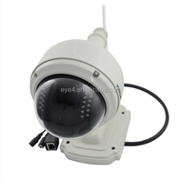 Manufacturer waterproof p2p dome PTZ digital outdoor 4x zoom camera and phone