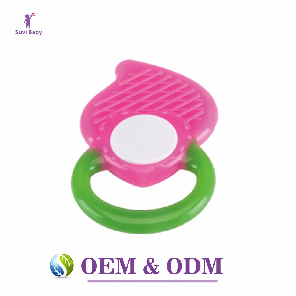 Infant teething toys manufacturers fruit peach rubber safe silicone baby teether