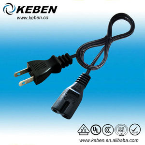 Japan ac power plug telephone line cord 2 pin PSE cable