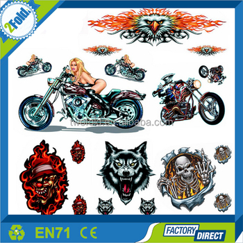 Motorcycle sticker design