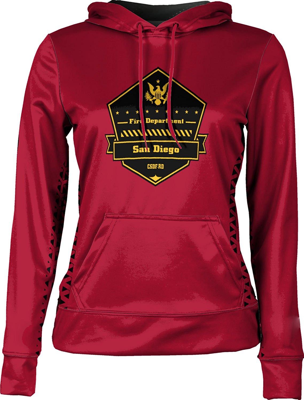 ProSphere Girls' City Of San Diego Fire-Rescue Department Fire Department Geometric Hoodie Sweatshirt