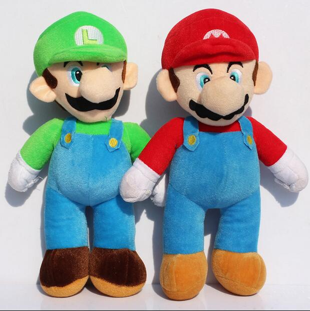 1pcs 10Inch 25cm Super Mario BrosStand MARIO LUIGI Plush <strong>Doll</strong> Stuffed Toy Free Shipping