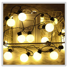G40 шаровые светодиодные гирлянды, цепи, подключаемые Рождественские огни, сказочные гирлянды для свадебной вечеринки, садовые подвесные ги...(Китай)