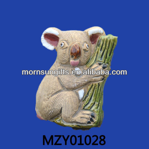2013 koala shaped animated resin zoo animal craft