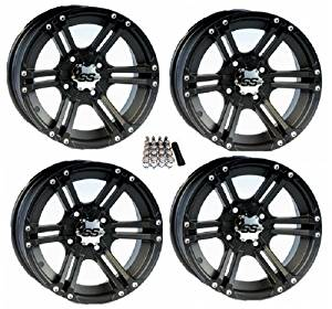 "ITP SS212 ATV Wheels/Rims Black 14"" Polaris RZR 1000 XP / Ranger 900 XP (4)"