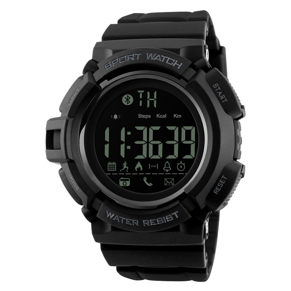Eachbid Sports Waterproof Bluetooth 4.0 Smart Watch for iPhone iOS 7.0 and Android Version 4.3 Above