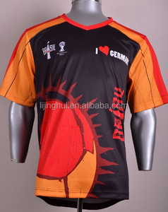 Custom all over printing sublimation t shirt