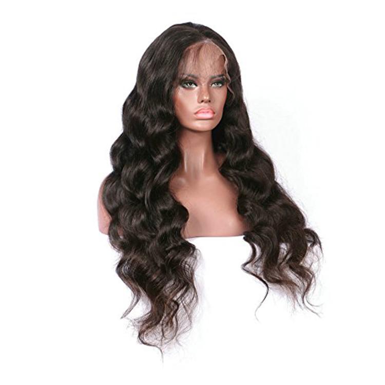 Miễn phí vận chuyển nguyên liệu tự nhiên của con người tóc tóc giả lac cơ thể phía trước sóng tóc giả tóc con người brazil ren phía trước xoăn tóc con người tóc giả cho phụ nữ