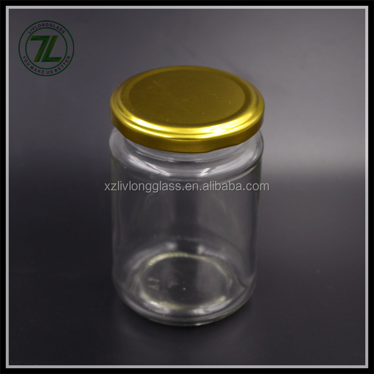 customize 8.5 oz pickle bottle 250ml glass food jar with metal cap