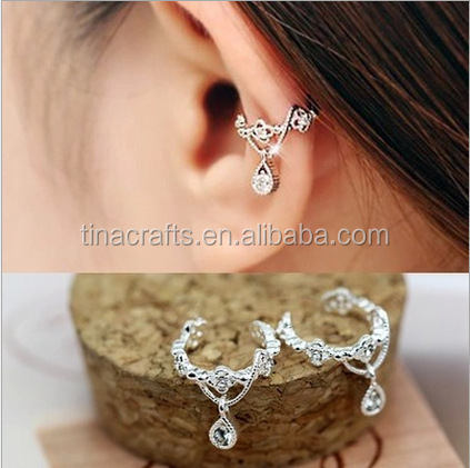Without Ear Hole Earring With Zircon
