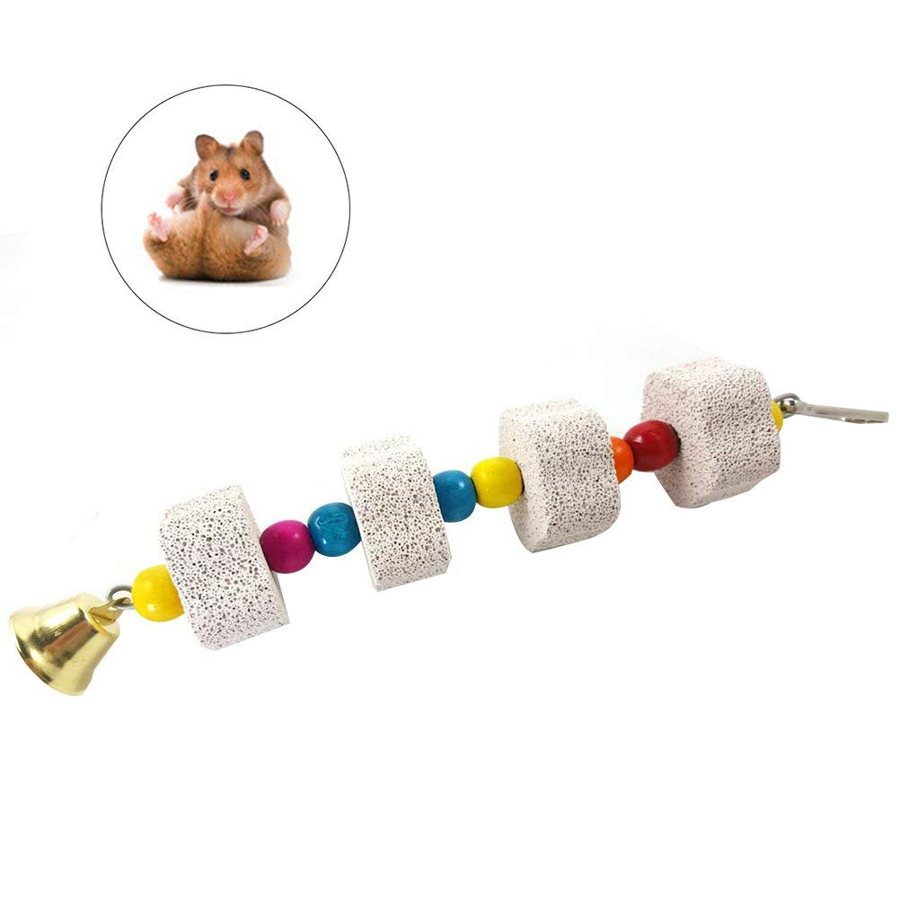 UEETEK Hamster Parrot Rabbit Chew Toys Grinding Stone Bird Mouth Molar Cage Toy