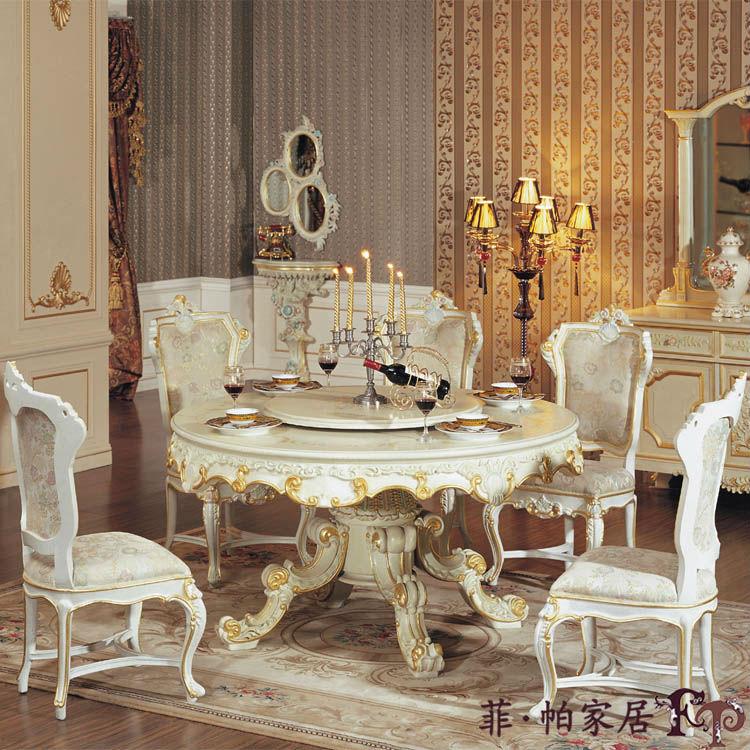 Estilo italiano muebles de comedor mesa de comedor redonda de ...