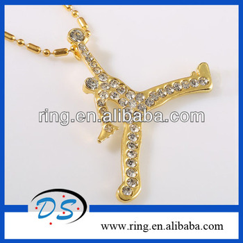 Gold plated michael jordan slam dunk basketball pendant necklace gold plated michael jordan slam dunk basketball pendant necklace mozeypictures Images