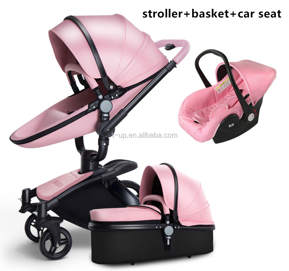 2020 Most Popular PU leather Material Baby Pram and Baby Stroller New Type