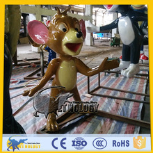 CET-N-208 Cetnology Fiberglass Mouse Cartoon Character Robot Figure Model for Amusement Park Decoration