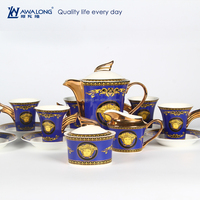 Blue Pattern Western Style Royal Design Special Porcelain Coffee Set, Arabic Coffee And Tea Sets