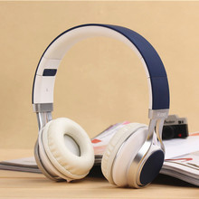 New Arrival Luxury Metal Headphone 3.5mm HIFI Stereo Super Bass Headset With Microphone