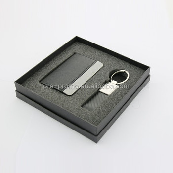 Giving away business gift set for corporate