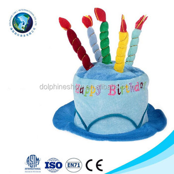 Birthday Party Decorations Custom Happy Cake Hat With Candles
