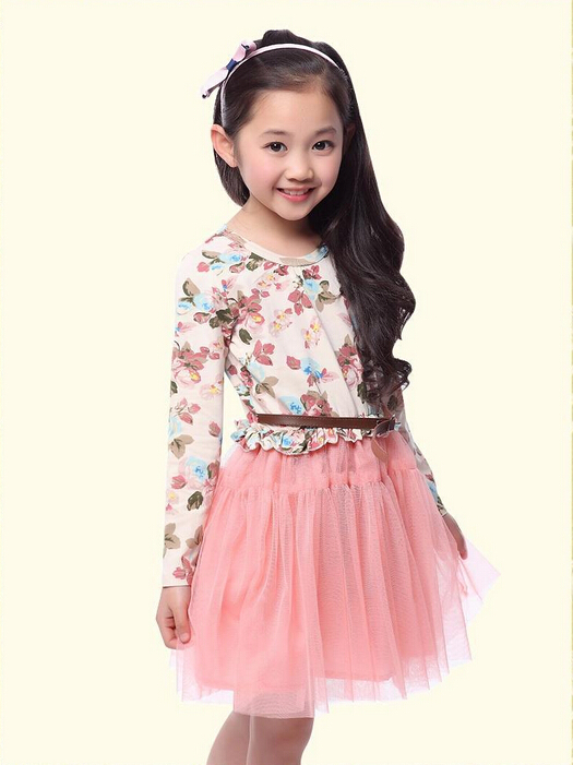 fe1ecde94f7ee Buy New fashion 2015 Autumn european and american style baby dress girls  tutus clothes baby girl flowers cotton winter girl dresses in Cheap Price  on ...