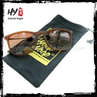 Logo printed microfiber eyeglass drawstring pouch sunglasses case sunglasses packaging microfiber bag
