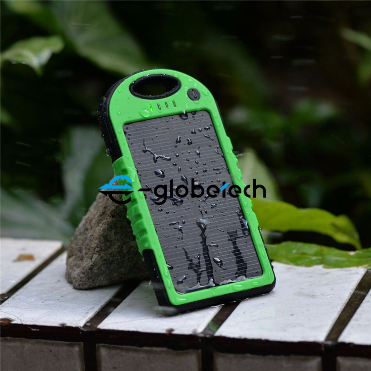 Portabel Waterproof Solar power bank 50000 mAh Ganda USB Baterai Eksternal