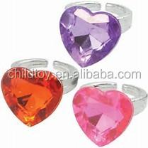kids plastic rings diamond ring low price heart shape toy ring buy