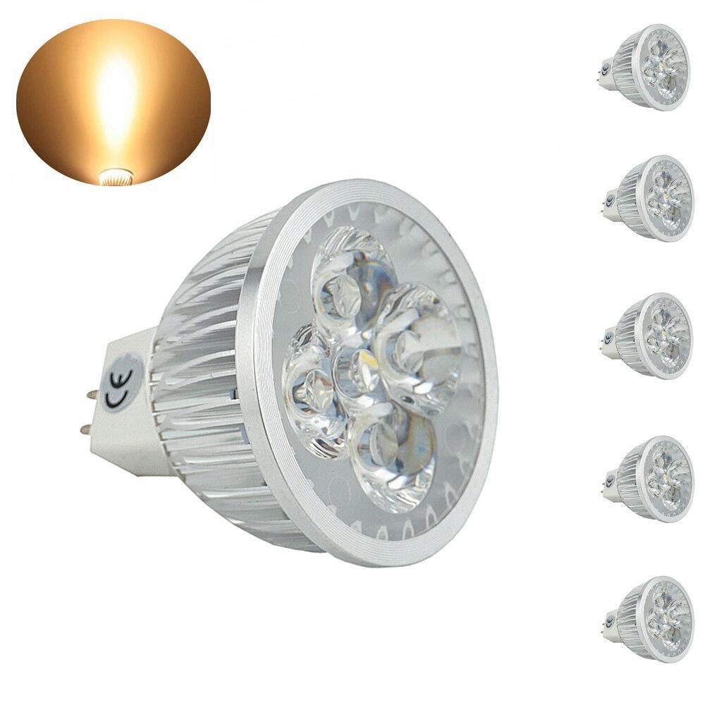 Bonlux 5-pack LED Mr16 LED Light Bulbs Bi-pin Gu5.3 Spot Light 120 Volts Warm White 35w Halogen Replacement