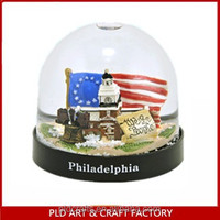 Usa Souvenir Plastic Water Snow Ball/usa Building Snow Globe City ...