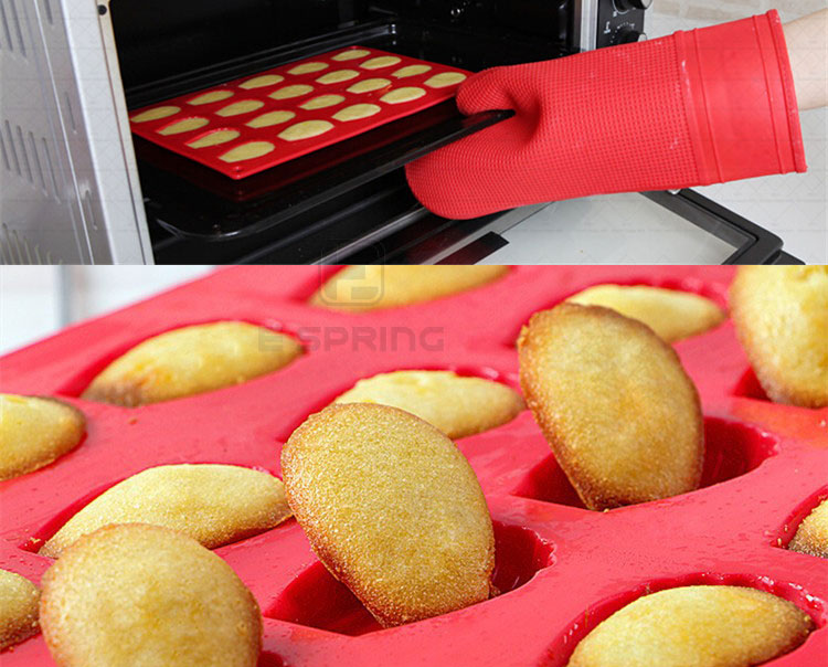 20 cavity hot selling non-stick madeleine silicone baking cake mold