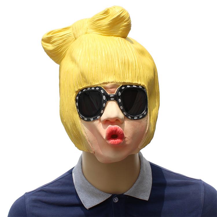 Lady Gaga femelle latex Masque Halloween