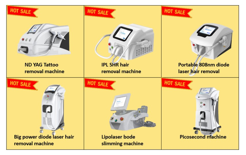 Portable Q switch Nd Yag laser eyebrow hair remover machine
