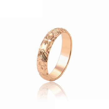 15613 xuping elegant lathes-carved flowers process High tech cut car flower rose gold plated ring