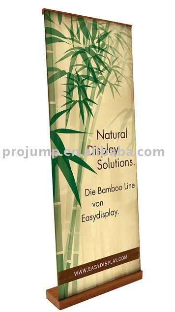 2011 Mobile Portable indoor advertising bamboo roll up banner