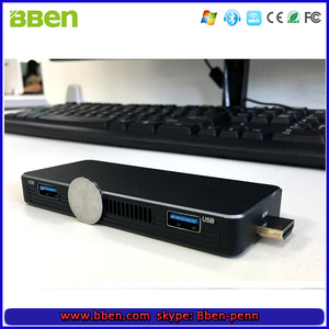 Thin client micro pc mini computer MN10 intel Apollo Lake N3350 3G 64G Windows 10 mini pocket pc/ PC stick