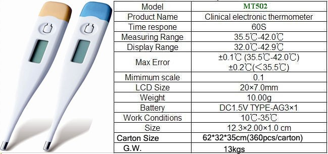 High quality clinical oral LCD digital thermometer