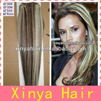 Fashion silk straight mixed color hair extension black hair with fashion silk straight mixed color hair extension black hair with blonde highlights pmusecretfo Gallery