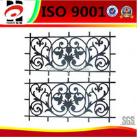 sand casting fence decoration,cast iron products,aluminum fence