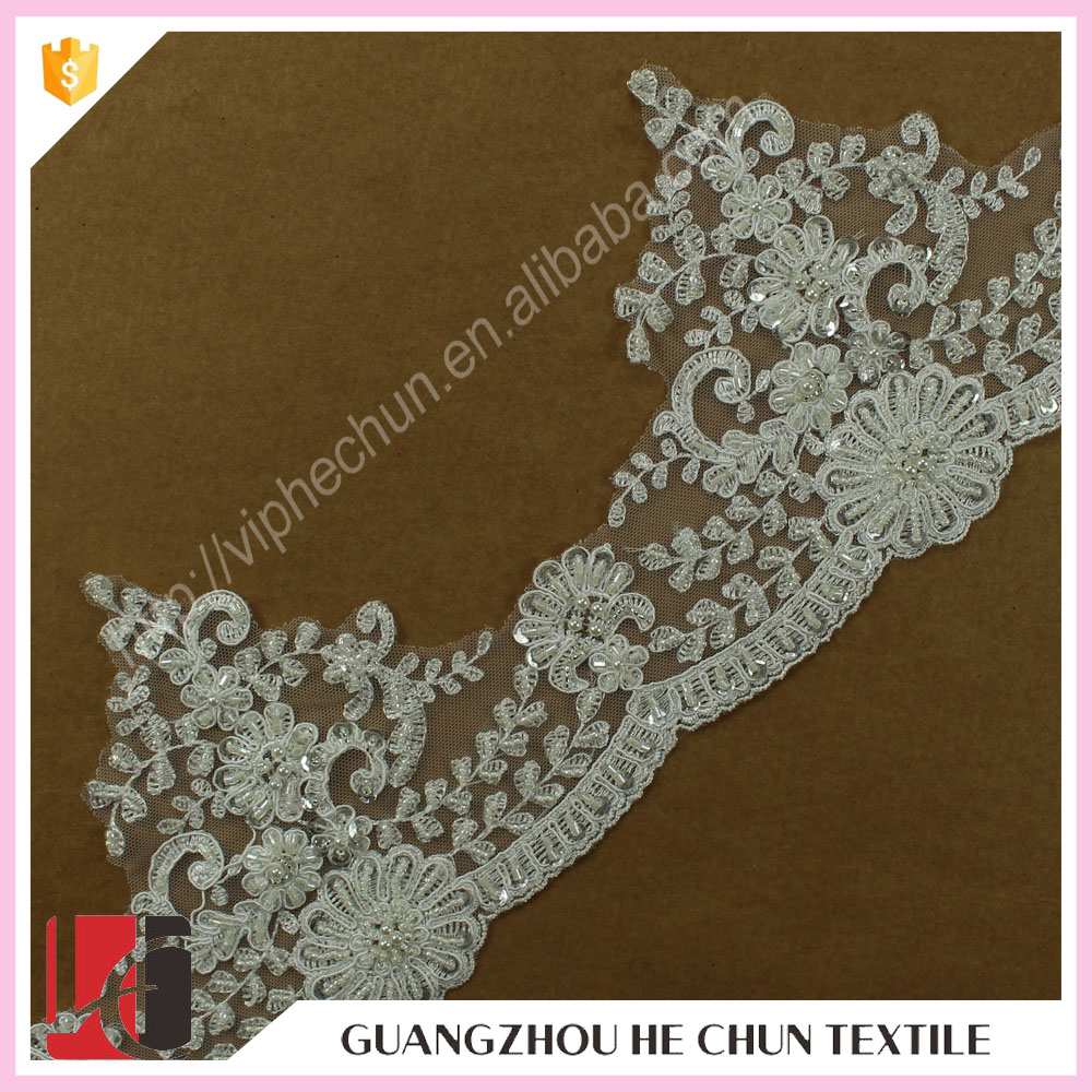 HC-2296-1 Hechun Fashion High Crafts Ivory Scalloped Lace Bridal Trim
