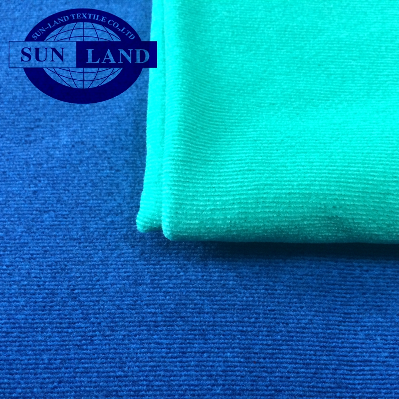 100% polyester thicken and warm melange stripe fleece fabric for garment
