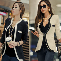 ZH1635A Newest style elegant women color splicing blazer