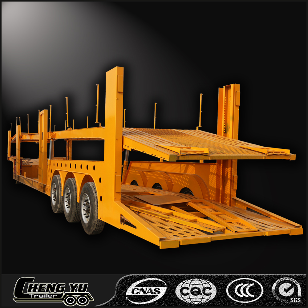 Transport 6- 12 cars double floor car transport trailer