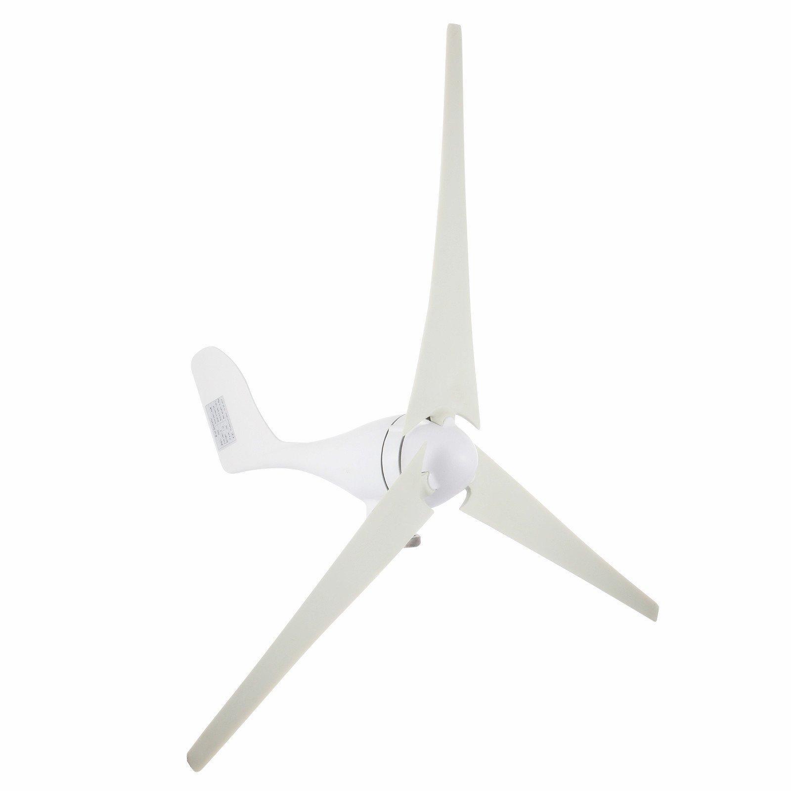Popsport Wind Generator 400W Hybrid Wind Turbine Generator DC 12V/24V Turbine Wind Generator 3 Blades Light and Powerful Wind Generator Kit for Home Use (400W)